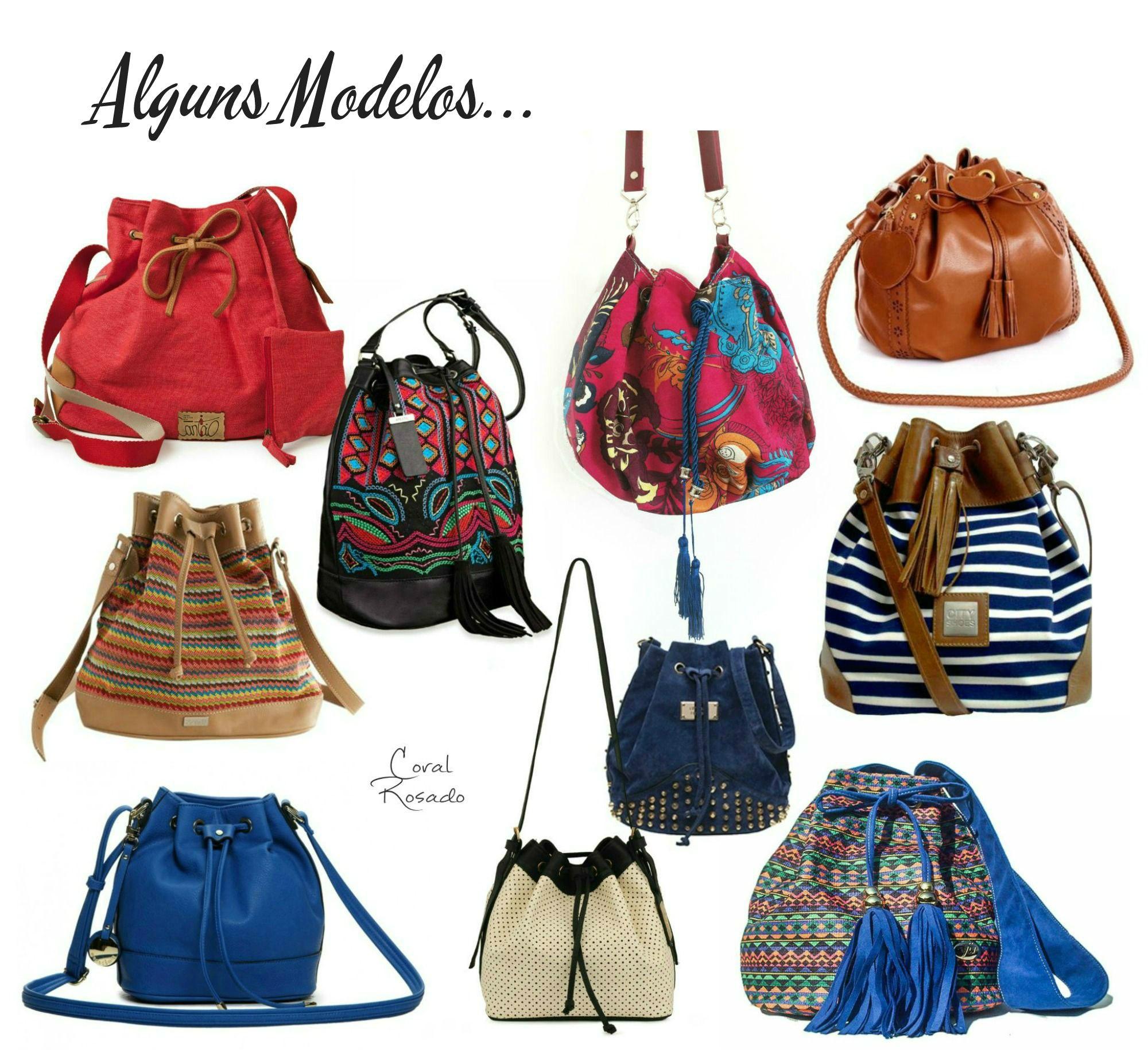 """QUE SACO! """" – Moda   Bucket bag ou """"Bolsas Saco"""" – Coral Rosado 01b93ea103c"""